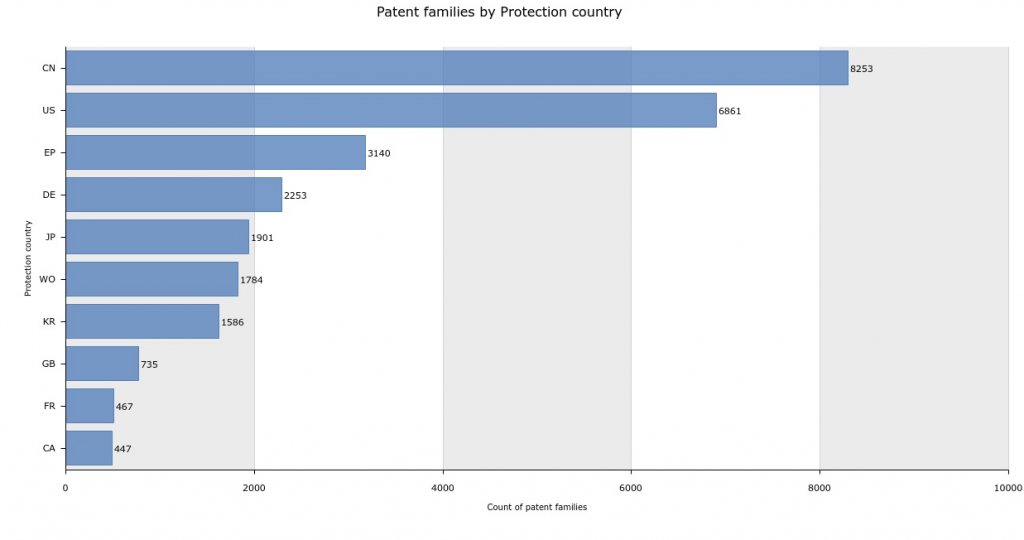 Patent Families by Protection Country
